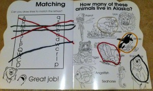 Wikki Stix on wipe-off activity books